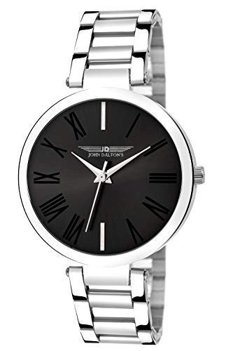 John Dalton's Black Dial with Silver Chain Watch for Women's. (B07N7ZVBVZ) Amazon Price History, Amazon Price Tracker