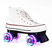 XUDREZ Roller Skates Light Up Wheels Roller Skates Double Row Four-Wheel Roller Skates Shiny Roller Skates Fun