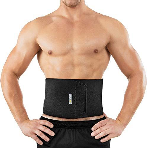 Bracoo Waist Trimmer Wrap, Sweat Sauna Slim Belly Belt for Men and Women – Abdominal Waist Trainer, weight less…