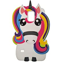 Samsung Galaxy S5 Case, DUGRO Newest Cute Funny 3D Cartoon Soft TPU Silicone [Thickening Design] [Drop Protective] Rubber Phone Case Cover - Rainbow Unicorn