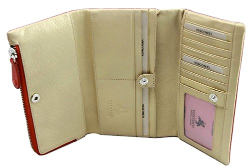 CSM8 Soft Leather Checkbook Wallet Purse/Trifold Classic Wallet
