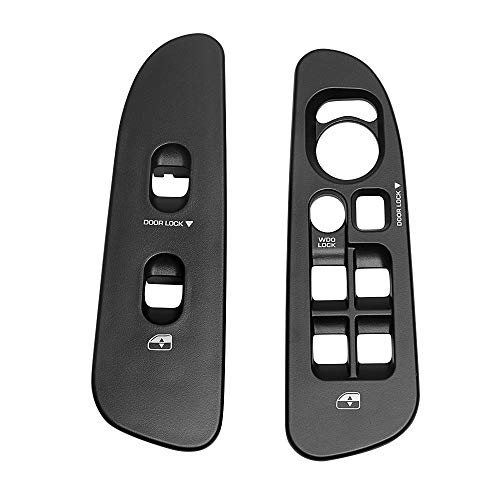 A Pair Black Window Switch Panel Bezel Compatible with Dodge Ram 1500 2500 3500 (2002-2010) Both Driver & Passenger Side Door Armrest