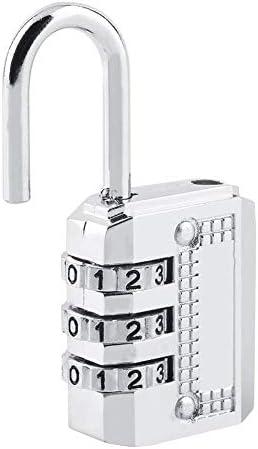 Silber Top Safety Steel 3//4 Dial Zahlenschloss Schlie/ßfach T/ür Toolbox Gep/äck Koffer Schloss Sch/ützen Sie Ihr Eigentum