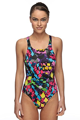 Maru Neon Diamond Pacer Vault Back Swimsuit Size 28