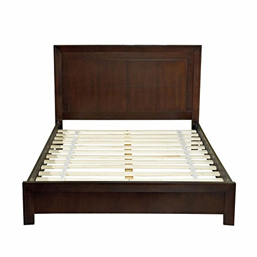 - Domusindo Modern Picture Frame Platform Bed in Chocolate Brown King