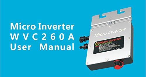 Waterproof Micro Solar Gird Tie Inverter 260W/120V Reverse Power Transmission(Item #251231) by A