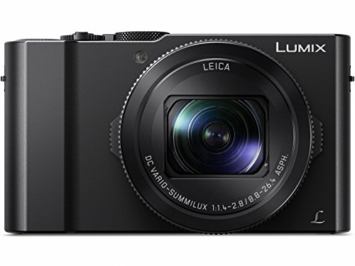 Digital Point And Shoot Film Camera - PANASONIC LUMIX LX10 4K Digital Camera, 20.1 Megapixel 1-Inch Sensor, 3X LEICA DC VARIO-SUMMILUX Lens, F1.4-2.8 Aperture, POWER O.I.S. Stabilization, 3-Inch LCD, DMC-LX10K (Black)