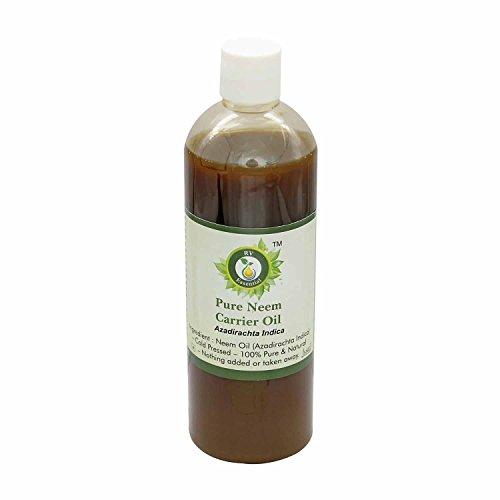 R V Essential Neem puro aceite del portador de 100ml (3.38 oz)- Azadirachta Indica (100% puro y natural Fría presionado)...