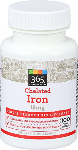 365 Everyday Value, Chelated Iron 18mg, 100 ct