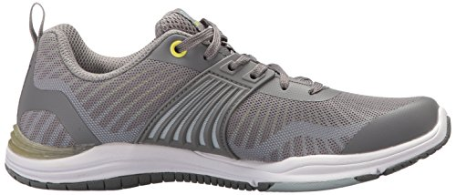 Ryka Frauen Grafik Flow Cross Trainer Frostgrau / Hell Chartreuse / Soft Blue