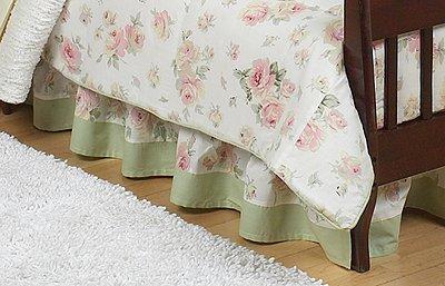 JoJo Designs Toddler Bed Skirt – Riley's Roses Floral, Baby & Kids Zone