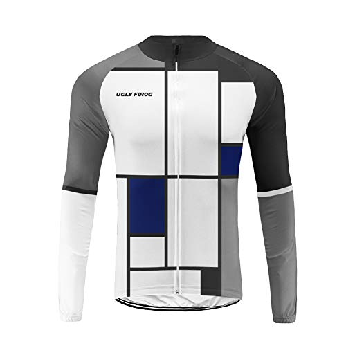 Uglyfrog Mens Cycling Jersey 2019 Celebrity Plaid Painting Design Windproof Breathable Lightweight High Visibility Warm Thermal Long Sleeve Jacket MTB Mountain Bike Jacket