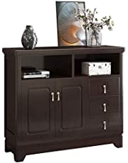 Kitchen Storage Sideboard,Sideboard for Living Roo Wood Buffet Storage Cabinet Living Room Sideboard Accent Table Contemporary Sideboard Buffet Credenza Storage Cupboard for Dining/Living Room/Kitchen