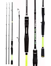 Ttolat Fishing Rods and Reel Combos Portable Carbon Fiber Telescopic Handle Fishing Rod with Baitcast Reels