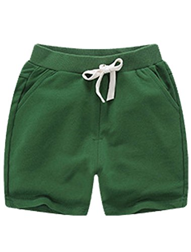 ARAUS Baby Elastic Waist Drawstring Shorts Toddler Cotton Summer Casual Short Pants Clothes for Boys Girls