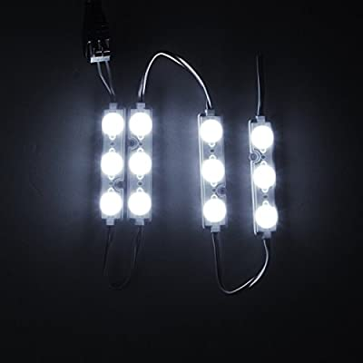 18 FT Waterproof Store Window Lights Pure White Injection Module For Indoor/Outdoor DIY Lighting Projects