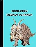 2020-2024 Weekly Planner: Achelousaurus Dinosaur Themed Diary