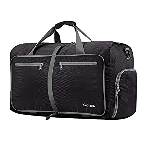 Gonex 60L Foldable Travel Duffel Bag for Storage