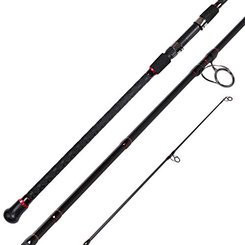 Fiblink Surf Spinning Fishing Rod 2-Piece Carbon Travel Fishing Rod (Length: 10')