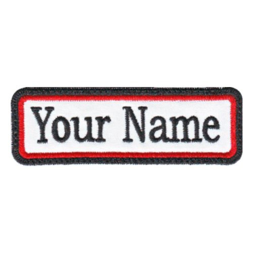 21c9f94bb71a Rectangular 1 Line Custom Embroidered Name Tag Sew On Patch (A)