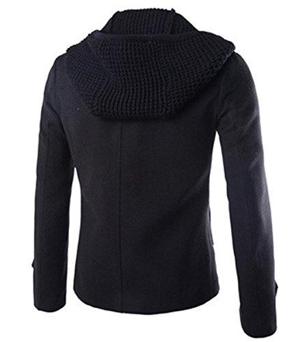 À Manteau Noir D'automne D'hiver Jacket Blouson Capuche xvUFqU