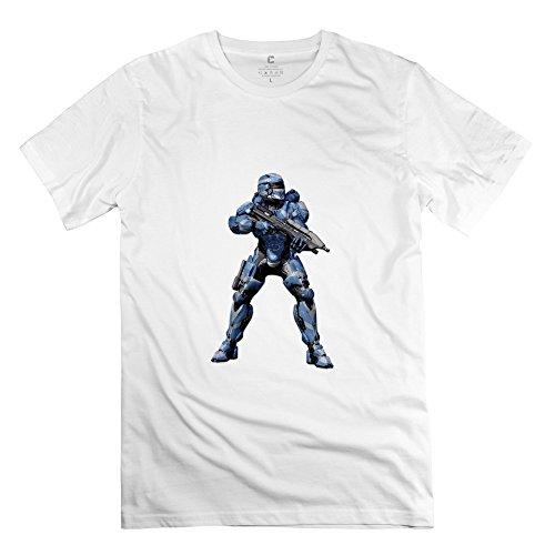 Halo Spartan Assault:armour Fashion 100% Cotton White Shirts For Teenagers Size -