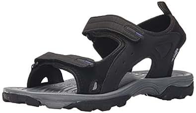 Northside Men's Riverside II Open-Toe Sandal,Black/Royal,8 M US