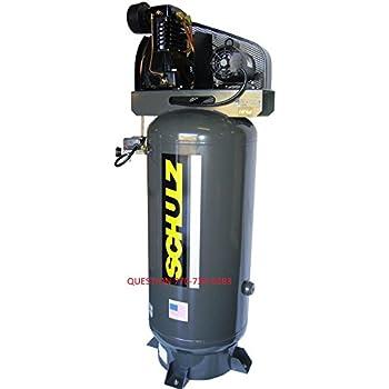 5 Hp Single Phase 80 Gallon, 175 Psi, 20 Cfm, Schulz Compressor