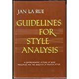 Guidelines for Style Analysis, La Rue, Jan, 0393099466