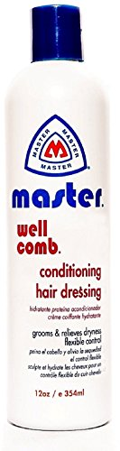 Master Well Comb Conditioning hair dressing 12 oz (Pack of 12) by Master