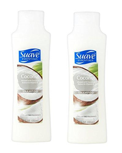 Suave Essentials Tropical Coconut Extract & Vitamin E Shampoo - 12 Oz.( PACK of 2 )