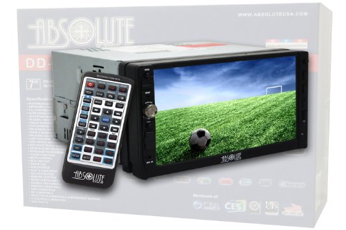 Absolute DD-3000AT 7-Inch Double Din Multimedia DVD Player Receiver with Touch Screen System Display and Detachable Front Panel Built-In Analog TV Tuner with SD/USB Slot Nissan Cd