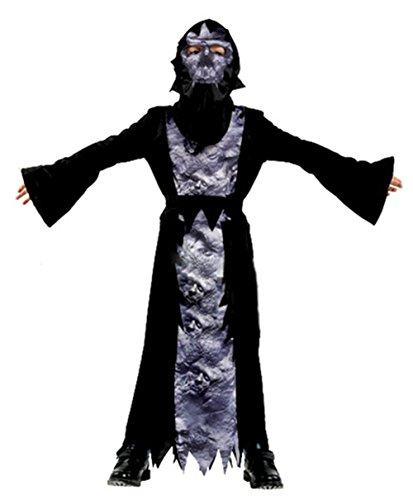 Seipe Boys Girls Halloween Cute Demon Costumes 3 Pieces Black Evil Outfits Set 7-9 Year