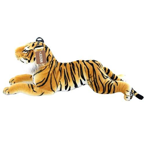 (JESONN Realistic Stuffed Animals Grovel Tiger Plush Toys Pillows,23.6
