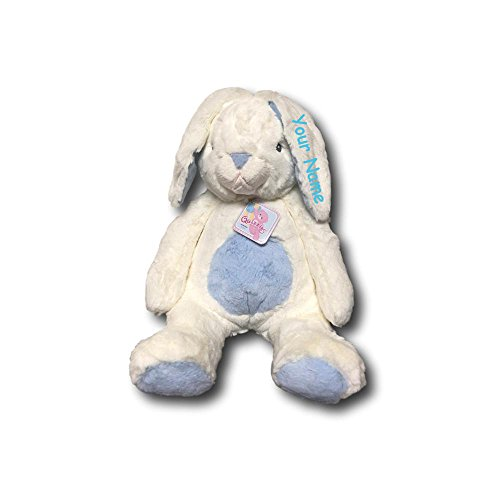 Personalized Aurora World Quizzies Bun Bun Blue Easter Bunny Plush Stuffed Animal Toy - 16 Inches (Rabbit Plush Blue Bunny)