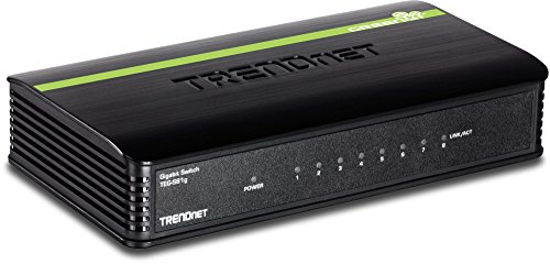 TRENDnet 8-Port Unmanaged Gigabit GREENnet Desktop Switch, 16 Gbps Switching Fabric, TEG-S81g
