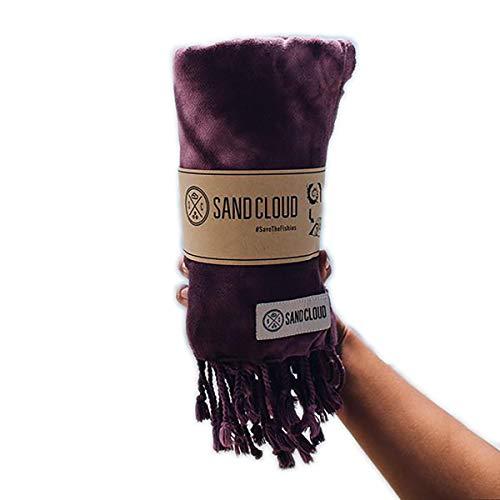 Sand Cloud Burgundy Swirl Tie Dye Beach Towel Blanket Tapestry Wall Hanging - 100% Turkish Cotton As Seen on Shark Tank