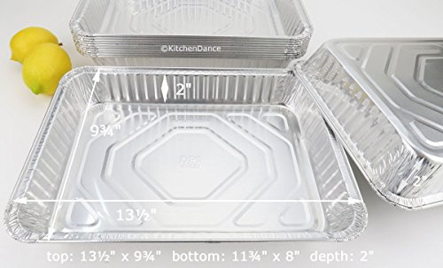 13 x 9 x 2 '' Durable Disposable Aluminum all purpose pan. #4700NL (50) by Durable Packaging