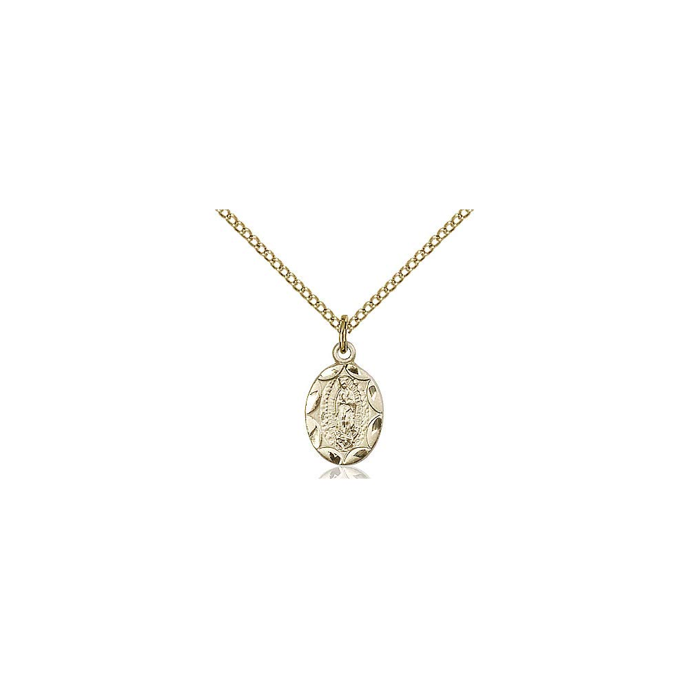 DiamondJewelryNY 14kt Gold Filled O//L of Guadalupe Pendant