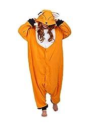 FashionFits Unisex Pajamas Animal Jumpsuit Costume Onesie Fox Pajama Cosplay