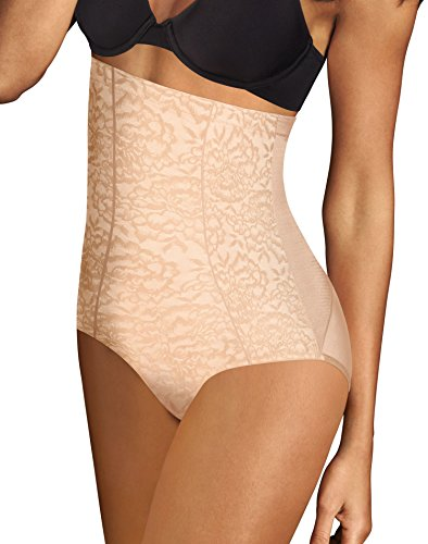 Maidenform Womens Sexy Lace Firm Control Hi Waist Brief, XL