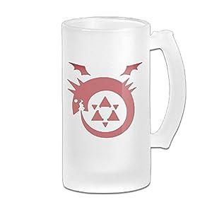 Fullmetal Alchemist Logo Grind Beer Glass Mug White