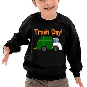 Puppylol Trash Day Love Garbage Kids Classic Crew-Neck Pullover Hoodie Black 5-6 Toddler