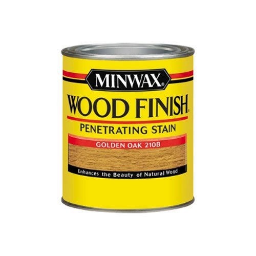 - Minwax 70001444 Wood Finish Penetrating  Stain, quart, Golden Oak