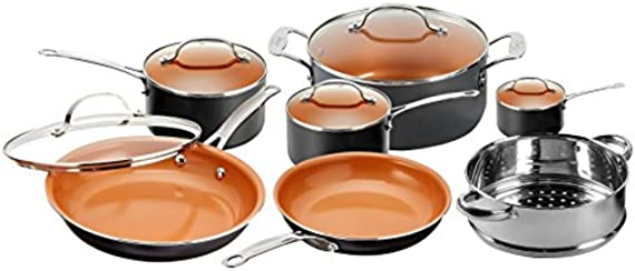 Gotham Steel 1471 Kitchen Nonstick Frying Pan and Cookware Set (12-Piece)