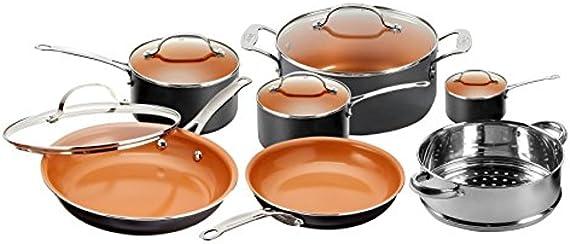 Gotham Steel 1471 Kitchen Nonstick Frying Pan and Cookware Set (12-Piece)