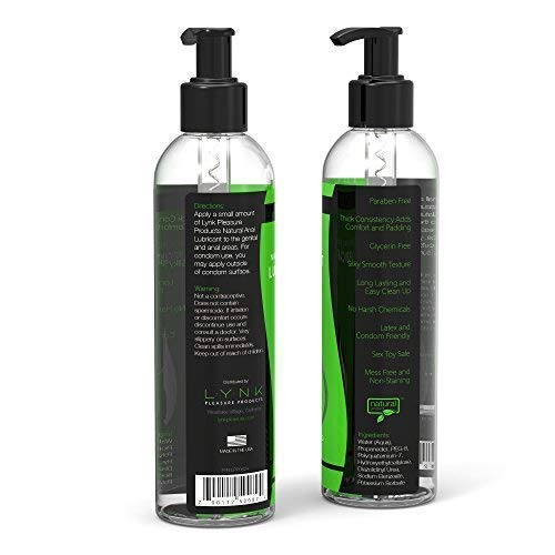 Lynk-Pleasure-Anal-Lube-Long-Lasting-Water-Based-8-oz-Sex-Lube-for-Men-Women-and-Couples-Paraben-Glycerin-Free-Intimate-Personal-Lubrication
