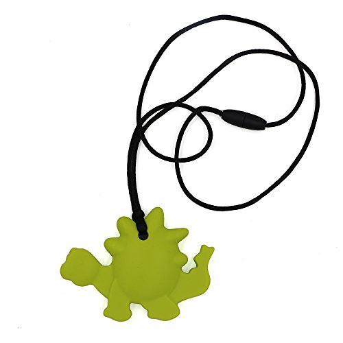 fb3ffcf10f1 Chew Necklace for Sensory - Oral Motor Aide Dinosaur Chewelry Baby Teething  Necklace for Nursing Mom