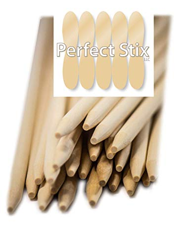 Perfect Stix Wooden Semi Pointed Candy Apple / Corn Dog Sticks 5.5