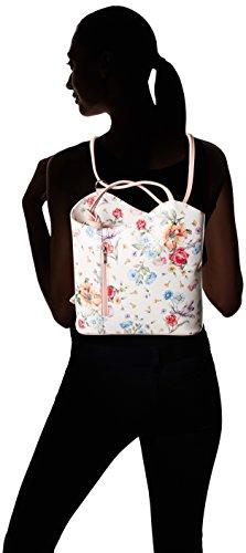 Chicca Borse 80056, Sacs portés épaule Multicolore (Fiori/Rosa)